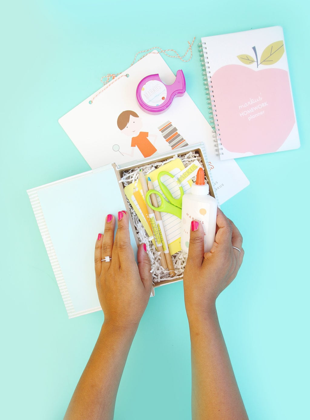 DIY Back to School in a Box | damask love