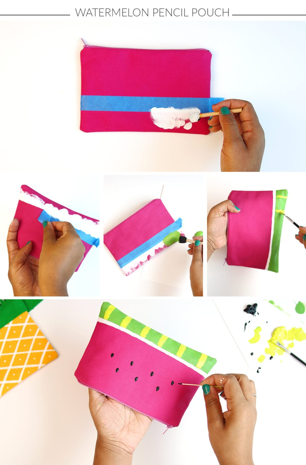 DIY Fruit Pencil Pouches | Damask Love
