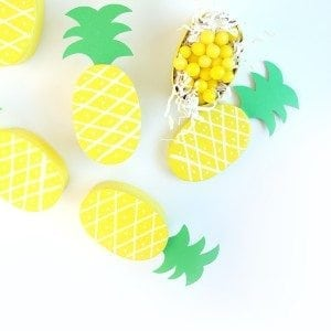 DIY Pineapple Treat Boxes | damask love