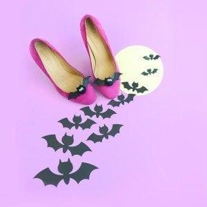 DIY Bat Shoe Clips   damask love