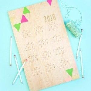 Handstamped Wood Calendar | damask love