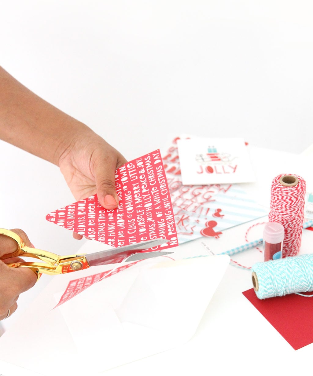 Make Your Own Holiday Card Kit   damask love