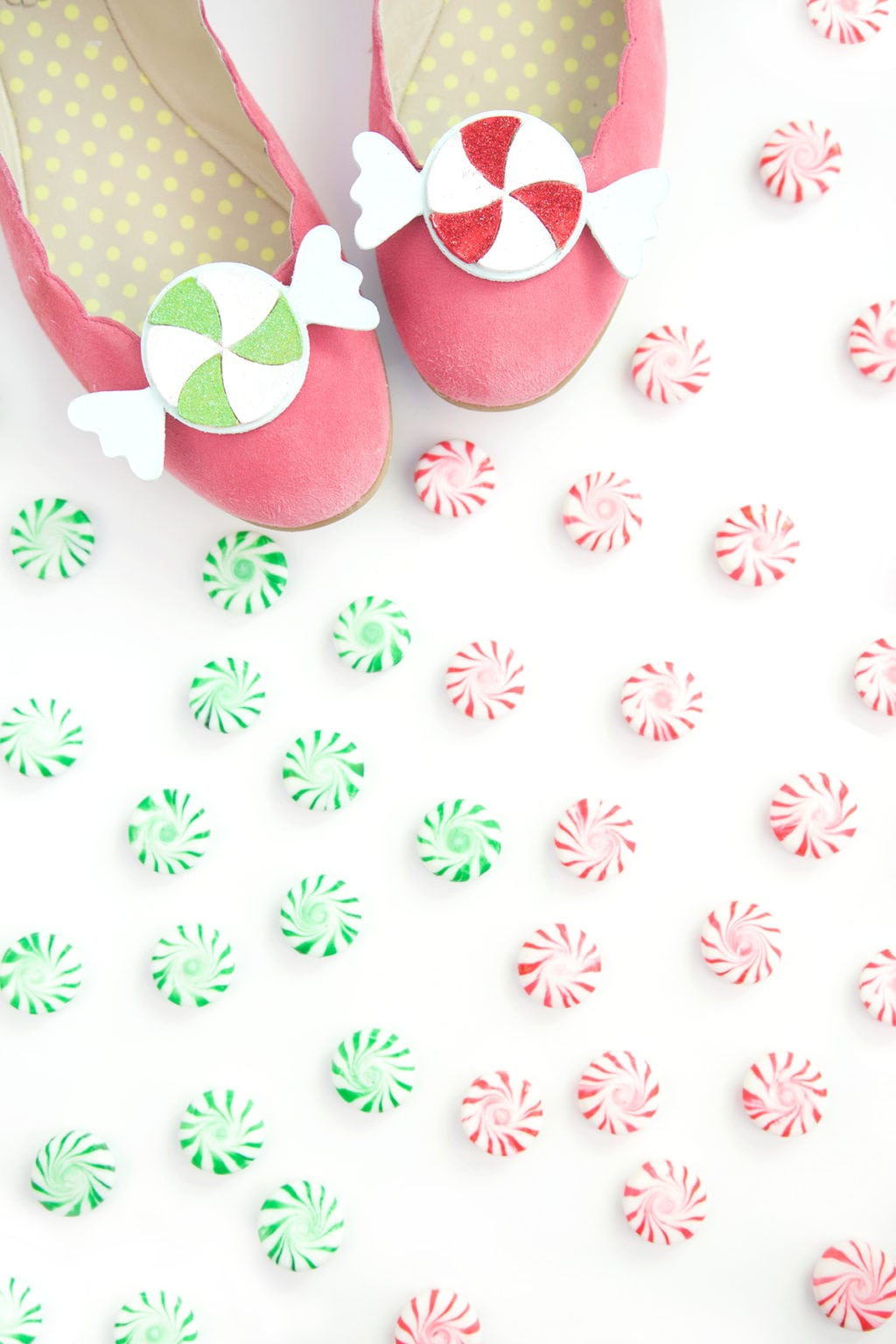 Peppermint Candy Shoe Clips | damask love