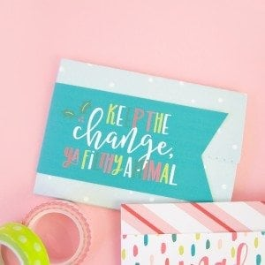 Gift Card Holder Printable