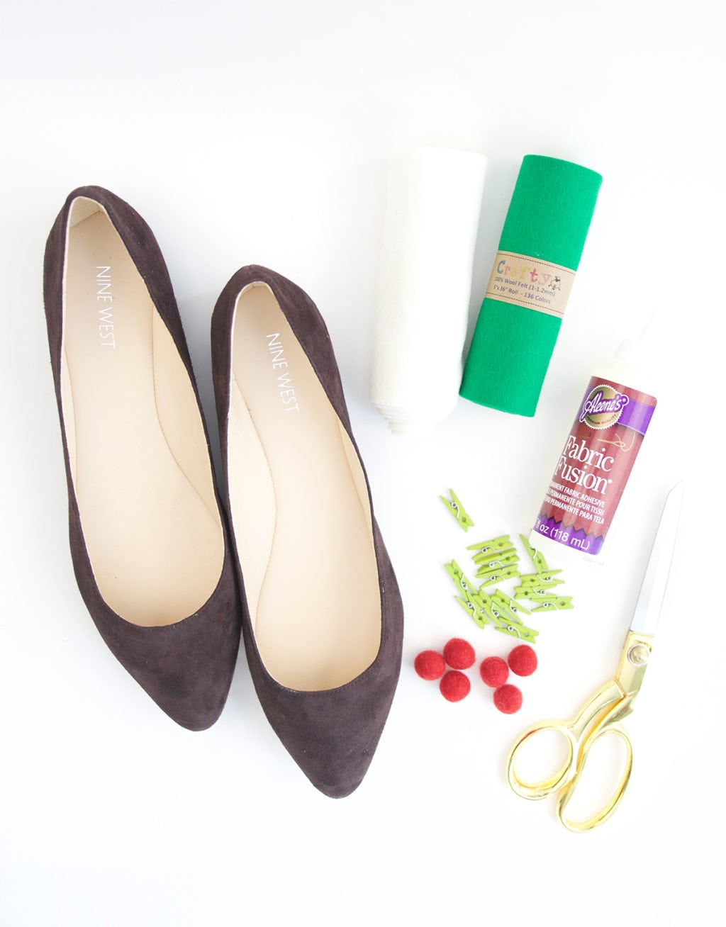 Diy Christmas Holly Berry Shoes