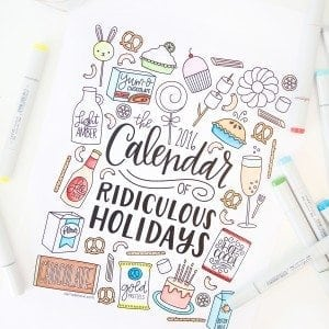 Free Printable Coloring Calendar | damask love