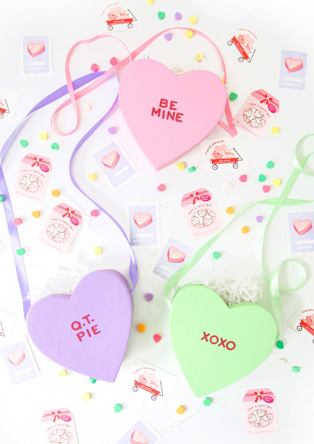 DIY Conversation Heart Bag