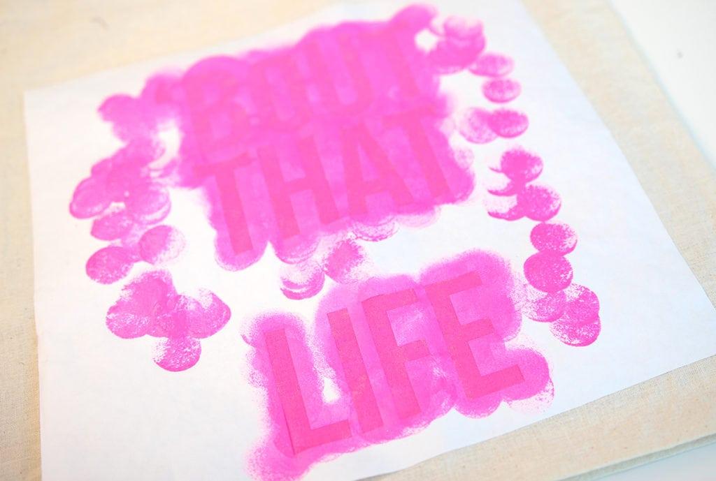 Tips for Making Freezer Paper Stencils | Damask Love