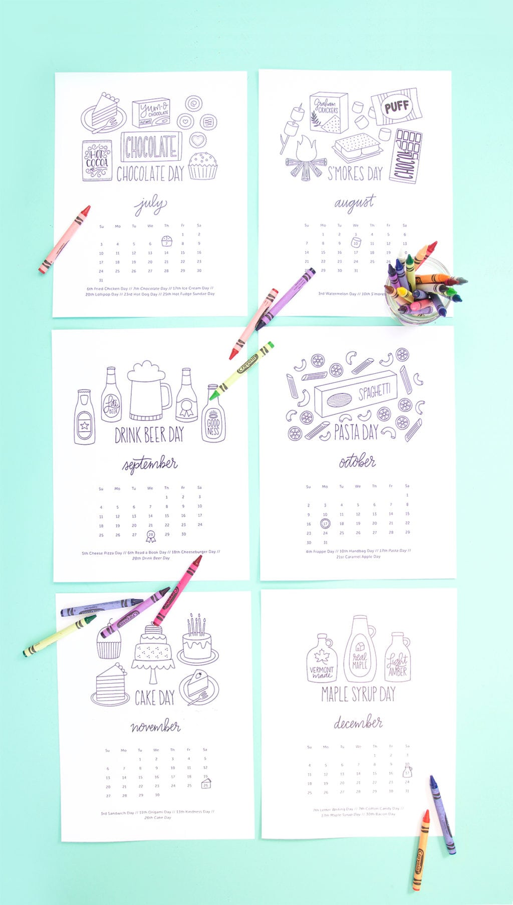 Free Printable Coloring Calendar | damask love