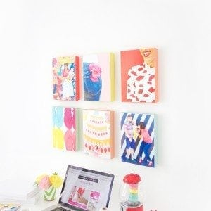 Easy Washi Tape Gallery Wall
