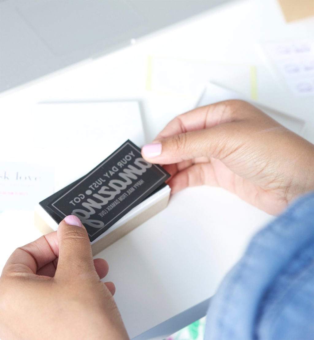 Branding with Silhouette Mint Stamp Maker