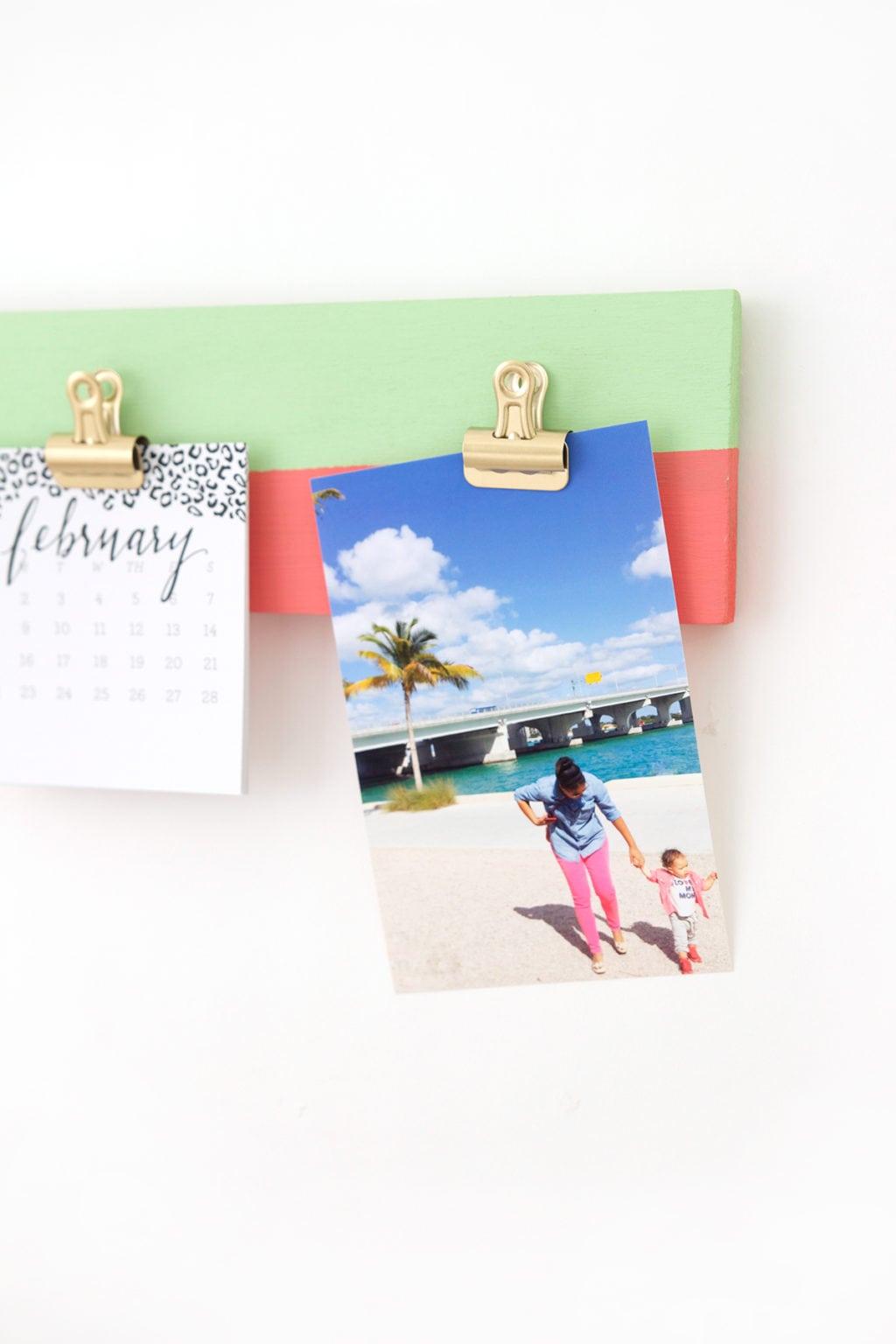 DIY Photo Gallery Clipboard | damask love