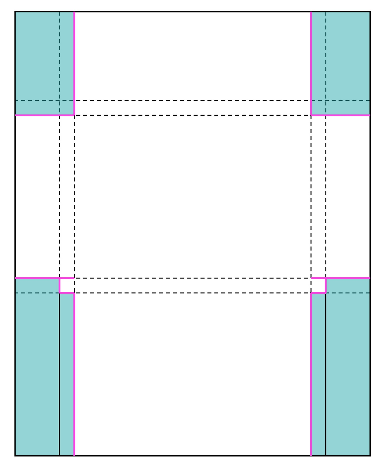 Perforated note cards card set envelope tutorial for 5 by 7 notecard template