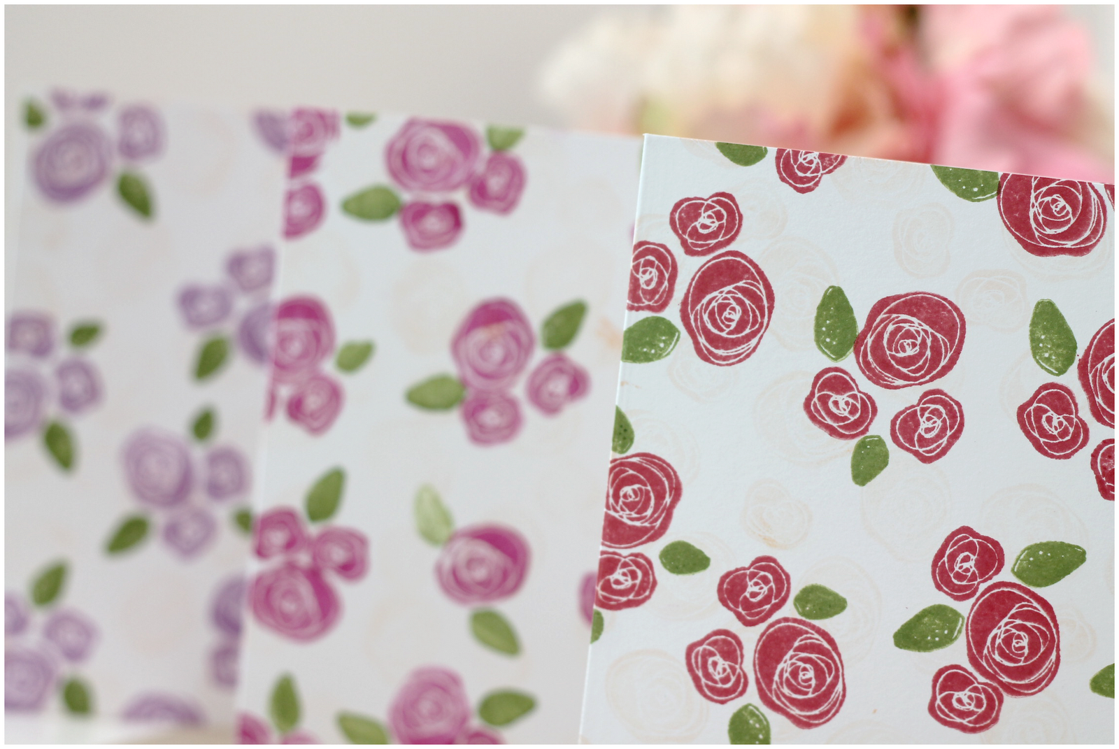 Clear and simple stamps painting the roses red damask love for Easy way to paint a rose